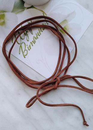 Чокер шнурок,  украшение на шею,  идея подарка