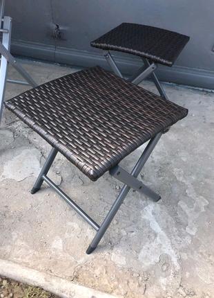 🌅Открытый складной стул из ротанга🌅 3 штуки в наличие остались!