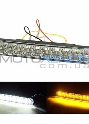 Дневные ходовые огни дхо DRL лед с поворотом 30 LED ланос ваз ...