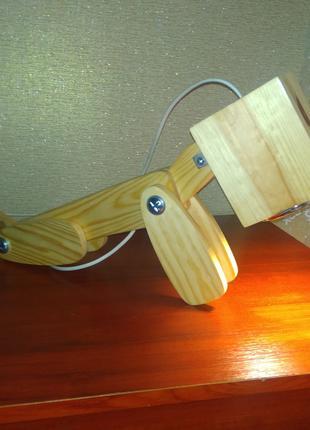 Настольная лампа, детский светильник, ночник из дерева
