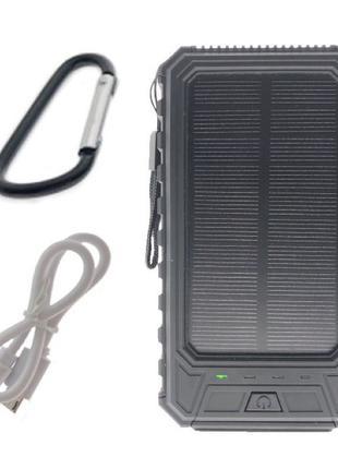Портативный аккумулятор с солнечной батареей 10000 mAh Solar Batt