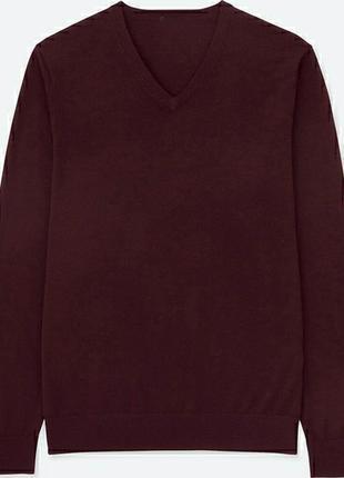 Базовый мужской шерстяной свитер asw85 с v-образным вырезом бо...