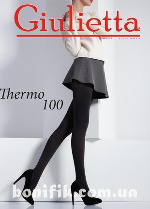 Женские плотные колготки с микрофибры THERMO 100
