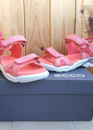 Стильные кожаные босоножки сандалии ecco biom оригинал для дев...