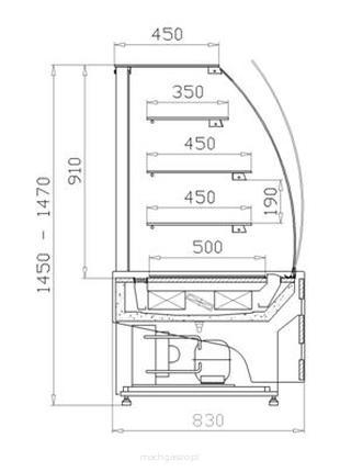 Продам кондитерську вітрину WCh-1 / C ESTERA - 950