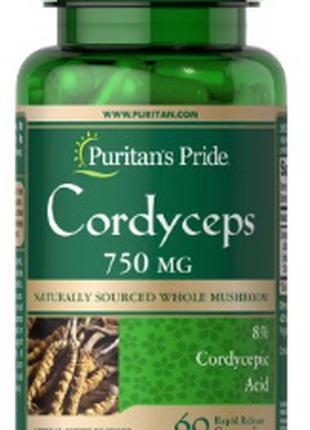 Puritan's Pride - СШАCordyceps Mushroom 750 mg 60caps