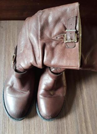 Кожаные женские сапоги из натур кожи 37 р