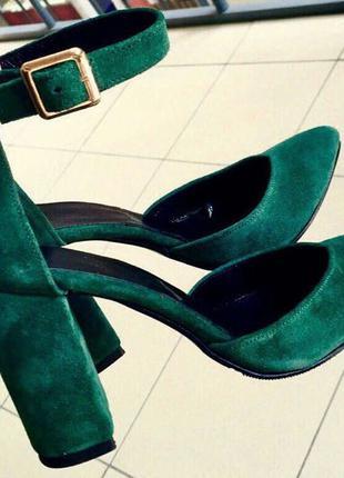 Mante! Красивые женские изумрудные замшевые кожа босоножки туфли