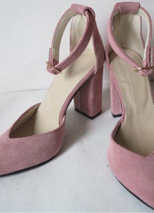 Mante! Красивые женские замшевые цвет пудра босоножки туфли каблу