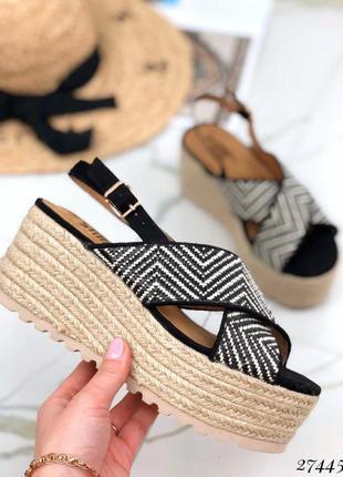❤ женские босоножки на плетенной подошве ❤