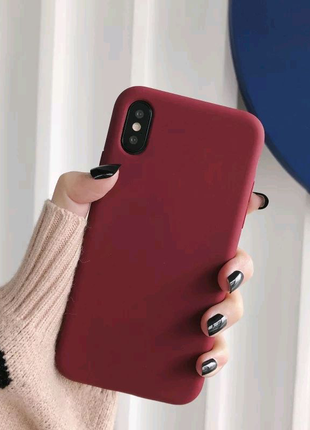 Мягкий силиконовый чехол iPhone