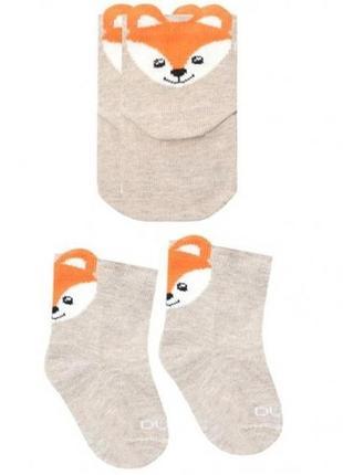 Носки для младенцев лисичка duna 0-6 месяцев 8-10 см стопа