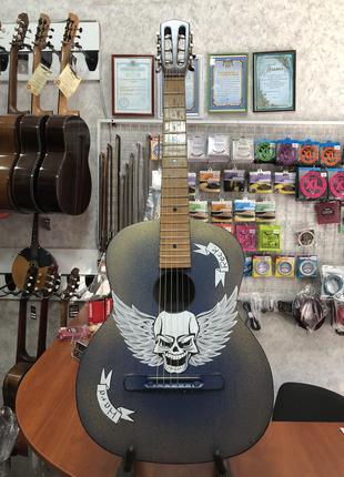 (3083) Гитара с Художественной Росписью