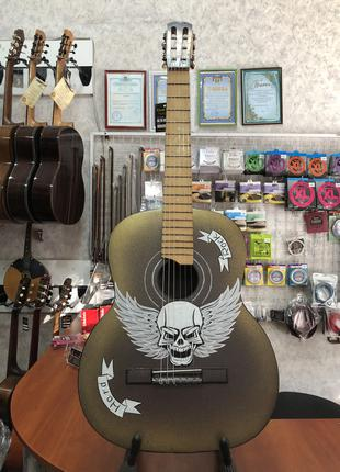(2747) Гитара с Художественной Росписью