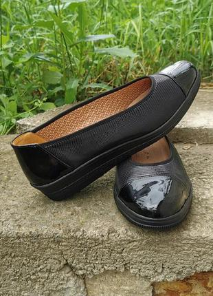 Кожаные лоферы туфли балетки gabor petunia 40 оригинал