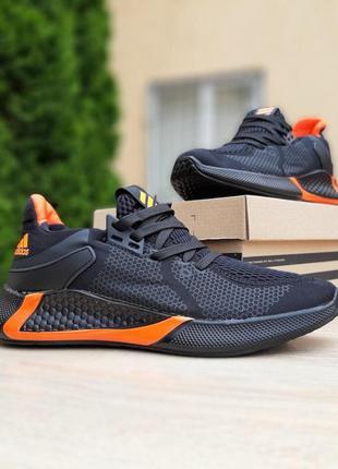 Adidas black and orange