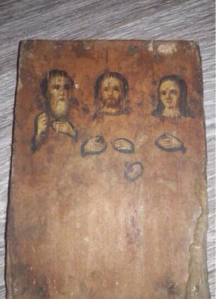 Старинная Икона Нч.19 Века, Лики Св.Гурий, Симон и Авив