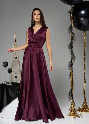 723.   вечернее платье из шелка