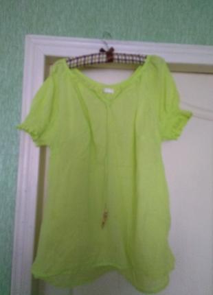 Яблочная хлопок туника+платье в подарок