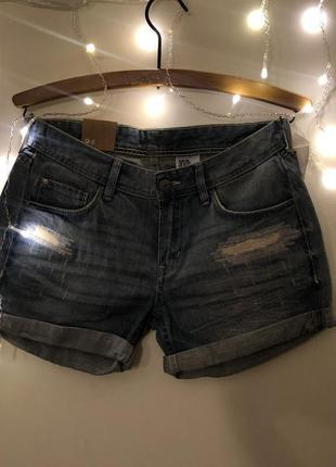 Новые светлые джинсовые шорты h&m