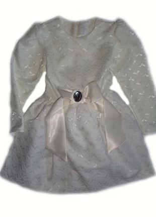 Праздничное платье для девочек рост 98-116