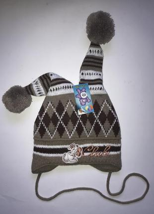 Зимняя шапка р. 46-48