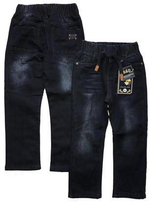 Утеплённые джинсы на флисе р. 116-122 в наличии