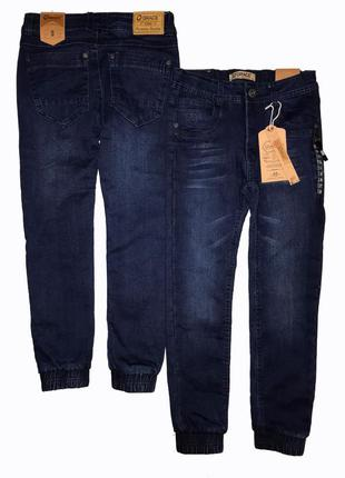 Утеплённые джинсы джоггеры на флисе