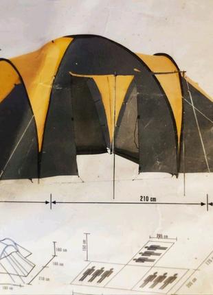 Палатка туристическая на 9 человек