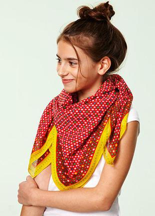 Красочный шарф платок бандана косынка tcm tchibo германия