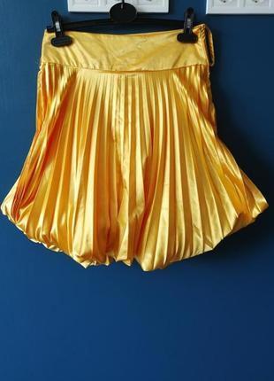 Жёлтая пышная юбка солнцеклёш. 38, 40 размер