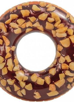 Круг надувной Intex Пончик в шоколаде 114 см (56262)