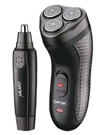 Электробритва + триммер носа Gemei GM , 2 в 1 бритва для бороды т