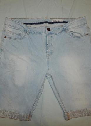 Denim co шорты мужские джинсовые модные рl-xl w36 eur 46 strec...