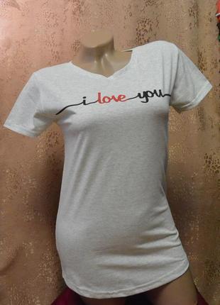 17-146 женская футболка с надписью i love you