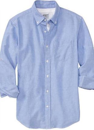 Рубашка old navy men's everyday classic slim-fit shirts size l