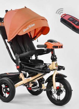 Велосипед Best Trike трехколесный с поворотным сидением оранжевый