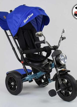 Велосипед Best Trike трехколесный с пультом синий