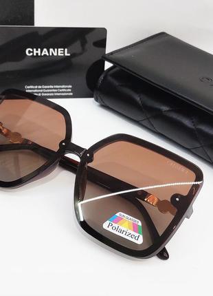 Женские очки коричневые с поляризацией