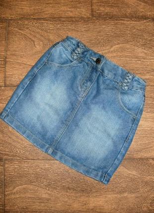 Джинсовая юбка на 6 лет
