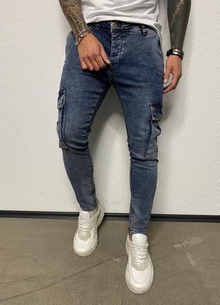 Крутые мужские джинсы с боковыми карманами