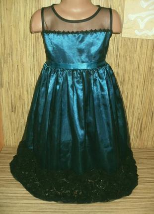 Шикарное нарядное платье на 8 лет