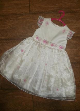 Нарядное платье на 1.5- 2 годика