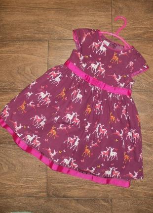Стильное платье на 1.5 - 2 годика в оленях