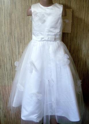 Шикарное нарядное платье на 8-9 лет