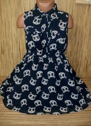 Стильное шифоновое платье на 6-7 лет