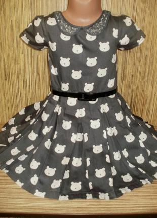 Стильное платье на 4-5 лет