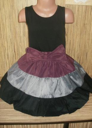 Летнее нарядное платье на 6 лет