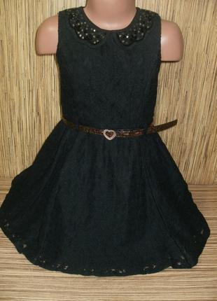 Стильное кружевное платье на 5-6 лет