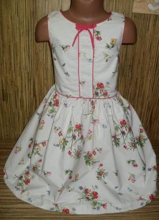 Платье с цветочным рисунком на 8 лет
